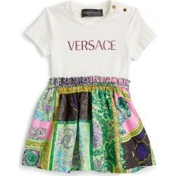 Versace Kids Baroque-Skirt Logo Dress (3-36 Months) found on Bargain Bro UK from harrods.com