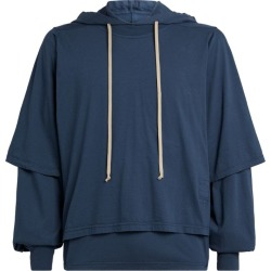 Rick Owens Double-Layer Hoodie found on Bargain Bro UK from harrods.com