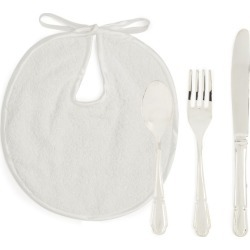 English Trousseau Kids Bib and Cutlery Set found on Bargain Bro UK from harrods.com