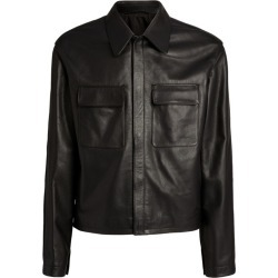 Lemaire Leather Jacket found on MODAPINS from harrods.com for USD $2107.78