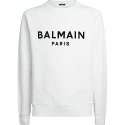 Balmain Cotton Logo Sweatshirt found on Bargain Bro UK from harrods.com