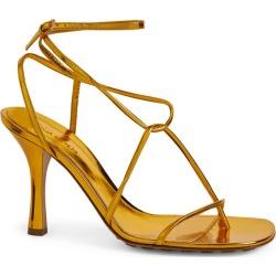 Bottega Veneta Metallic Stretch Sandals 90 found on Bargain Bro UK from harrods.com