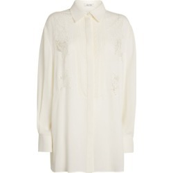 Valentino Silk Lace-Detail Shirt found on Bargain Bro UK from harrods.com