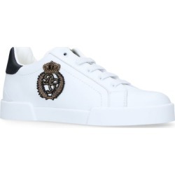 Dolce & Gabbana Kids Logo Crown Patch Sneakers found on Bargain Bro UK from harrods.com