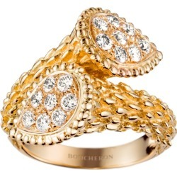 Boucheron Yellow Gold and Diamond Serpent Bohème Toi et Moi Ring found on MODAPINS from harrods.com for USD $9994.82