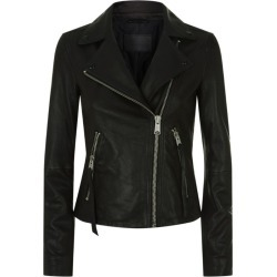 AllSaints Dalby Leather Biker Jacket found on MODAPINS from harrods.com for USD $386.66