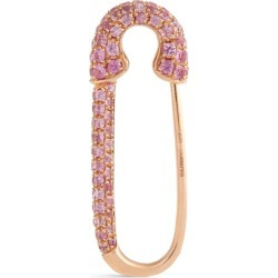 Anita Ko Rose Gold and Pink Sapphire Safety Pin Single Earring found on MODAPINS from harrods.com for USD $1125.97