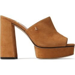 Jimmy Choo Bethen 115 Suede Mules found on Bargain Bro from harrods.com for £553