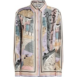 Emilio Pucci Silk Grigio Print Shirt found on MODAPINS from harrods (us) for USD $1317.00