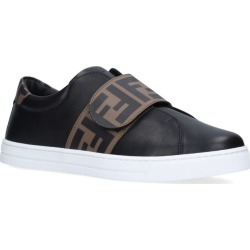 Fendi Kids FF Velcro Slip-On Sneakers found on Bargain Bro UK from harrods.com