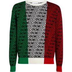 Moschino Wool Logo Flag Sweater found on Bargain Bro UK from harrods.com
