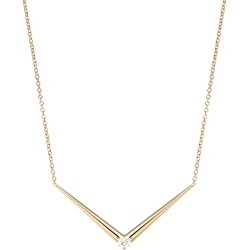 Melissa Kaye Yellow Gold And Diamond Aria V Necklace found on Bargain Bro India from harrods (us) for $3574.00