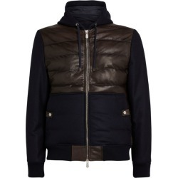 Eleventy Leather-Trim Bomber Jacket found on MODAPINS from harrods (us) for USD $1464.00