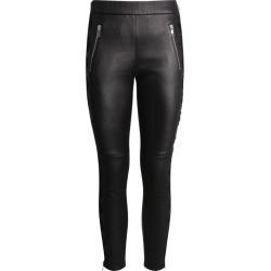 Alexander McQueen Lace-Trim Leather Trousers found on Bargain Bro UK from harrods.com