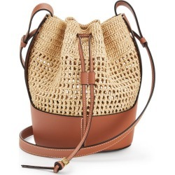 Loewe Small Raffia and Leather Balloon Bag found on Bargain Bro UK from harrods.com