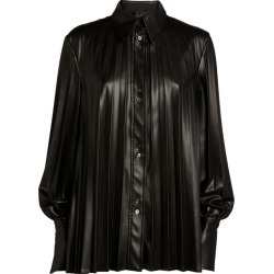 Ellery Pleated Etna Faux-Leather Shirt found on MODAPINS from harrods (us) for USD $1340.00