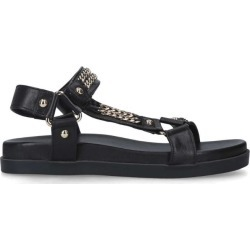 Carvela Leather Chain-Detail Kostello Sandals found on MODAPINS from harrods.com for USD $123.62