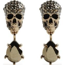 Alexander McQueen Crystal-Embellished Skull Earrings found on Bargain Bro UK from harrods.com