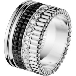 Boucheron White Gold Quatre Black Edition Large Ring found on MODAPINS from harrods.com for USD $12379.01