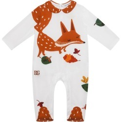 Dolce & Gabbana Kids Fox Print Playsuit (0-24 Months) found on Bargain Bro UK from harrods.com