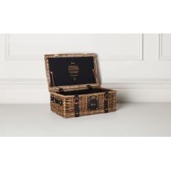 Harrods Small Wicker Hamper Basket (H42cm x W26cm x D16cm) found on Bargain Bro UK from harrods.com