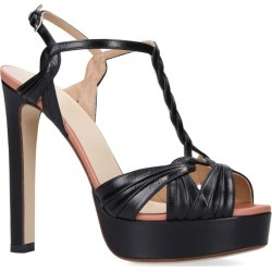 Francesco Russo Plaited Strap Platform Heels 105 found on MODAPINS from harrods.com for USD $1167.55
