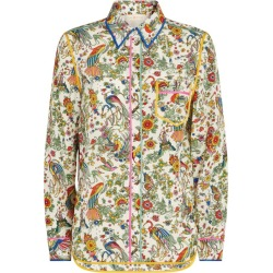 Tory Burch Floral Print Silk Shirt found on Bargain Bro UK from harrods.com