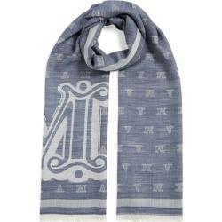 Max Mara Wool-Silk Monogram Scarf found on Bargain Bro UK from harrods.com