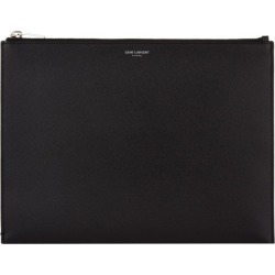 Saint Laurent Grained Leather Tablet Case found on Bargain Bro UK from harrods.com