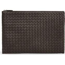 Bottega Veneta Leather Intrecciato Pouch found on Bargain Bro UK from harrods.com