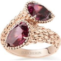 Boucheron Rose Gold and Rhodolite Garnet Serpent Bohème Ring found on MODAPINS from harrods.com for USD $6425.96
