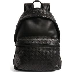 Bottega Veneta Leather Intrecciato Backpack found on Bargain Bro UK from harrods.com