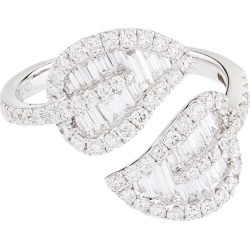 Anita Ko Medium White Gold Leaf Ring found on MODAPINS from harrods.com for USD $7420.87