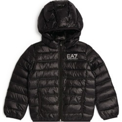 Emporio Armani Kids Logo Puffer Jacket (4-14 Years) found on Bargain Bro UK from harrods.com