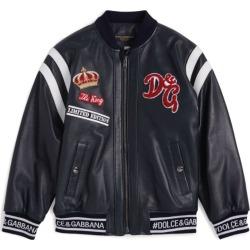 Dolce & Gabbana Kids Leather Bomber Jacket (2-6 Years) found on Bargain Bro UK from harrods.com