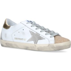 Golden Goose Crystal-Embellished Superstar Sneakers found on Bargain Bro UK from harrods.com