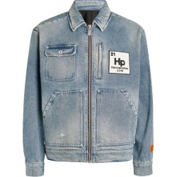 Heron Preston Distressed Denim Worker Jacket found on MODAPINS from harrods.com for USD $954.42