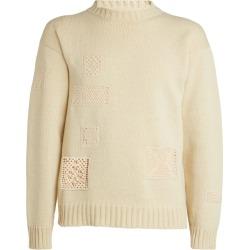Jil Sander Wool Crochet-Detail Sweater found on Bargain Bro UK from harrods.com