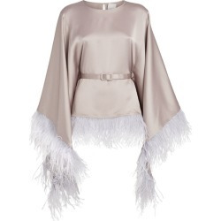 Huishan Zhang Feather-Trim Anthea Kaftan Top found on MODAPINS from Harrods Asia-Pacific for USD $431.93