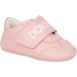Dolce & Gabbana Kids Leather Logo Strap Sneakers found on Bargain Bro UK from harrods.com