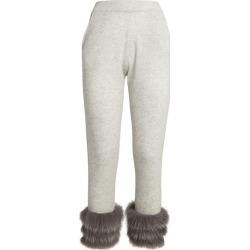 Izaak Azanei Fur-Trim Slim Sweatpants found on MODAPINS from harrods.com for USD $480.90