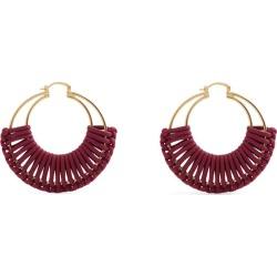 Bottega Veneta Gold-Plated Woven Hoop Earrings found on Bargain Bro UK from harrods.com