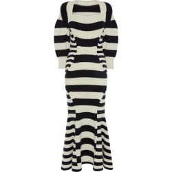 Alexander McQueen Panel-Striped Knitted Midi Skirt found on MODAPINS from harrods.com for USD $1899.64