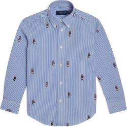 Ralph Lauren Kids Boating Bear Seersucker Shirt (6-14 Years) found on Bargain Bro from harrods.com for £45