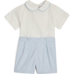 Rachel Riley Pintuck Shirt and Striped Short Set (6-24 Months) found on Bargain Bro UK from harrods.com