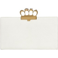 Alexander McQueen Leather Embossed Four-Ring Clutch Bag found on Bargain Bro UK from harrods.com