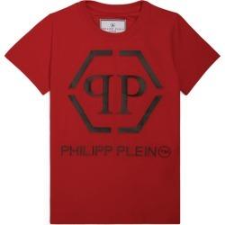 Philipp Plein Junior Hexagon Logo T-Shirt found on Bargain Bro UK from harrods.com