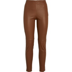 Max Mara Leather Skinny Trousers found on Bargain Bro UK from harrods.com