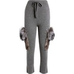 Izaak Azanei Fur-Trim Sweatpants found on MODAPINS from Harrods Asia-Pacific for USD $557.58
