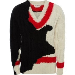 Alexander McQueen Ink Bleeding Intarsia Sweater found on MODAPINS from harrods.com for USD $1462.31